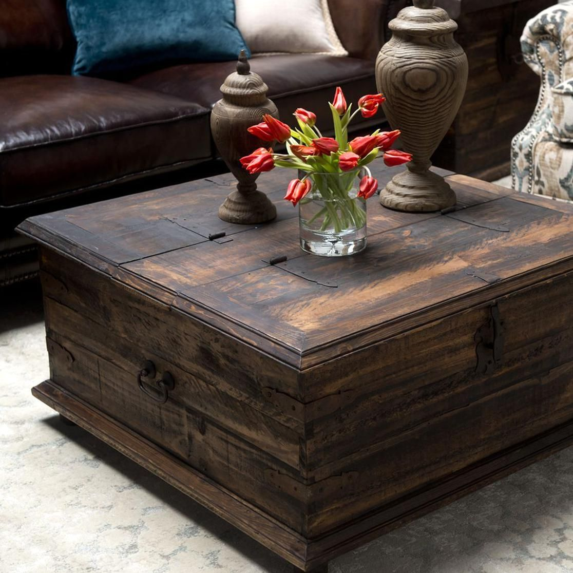 Rustic Coffee Tabletrunk Includes Hinged Lid For Handy Chest Coffee Table Rustic Coffee Table Sets Coffee Table Square [ 1116 x 1116 Pixel ]