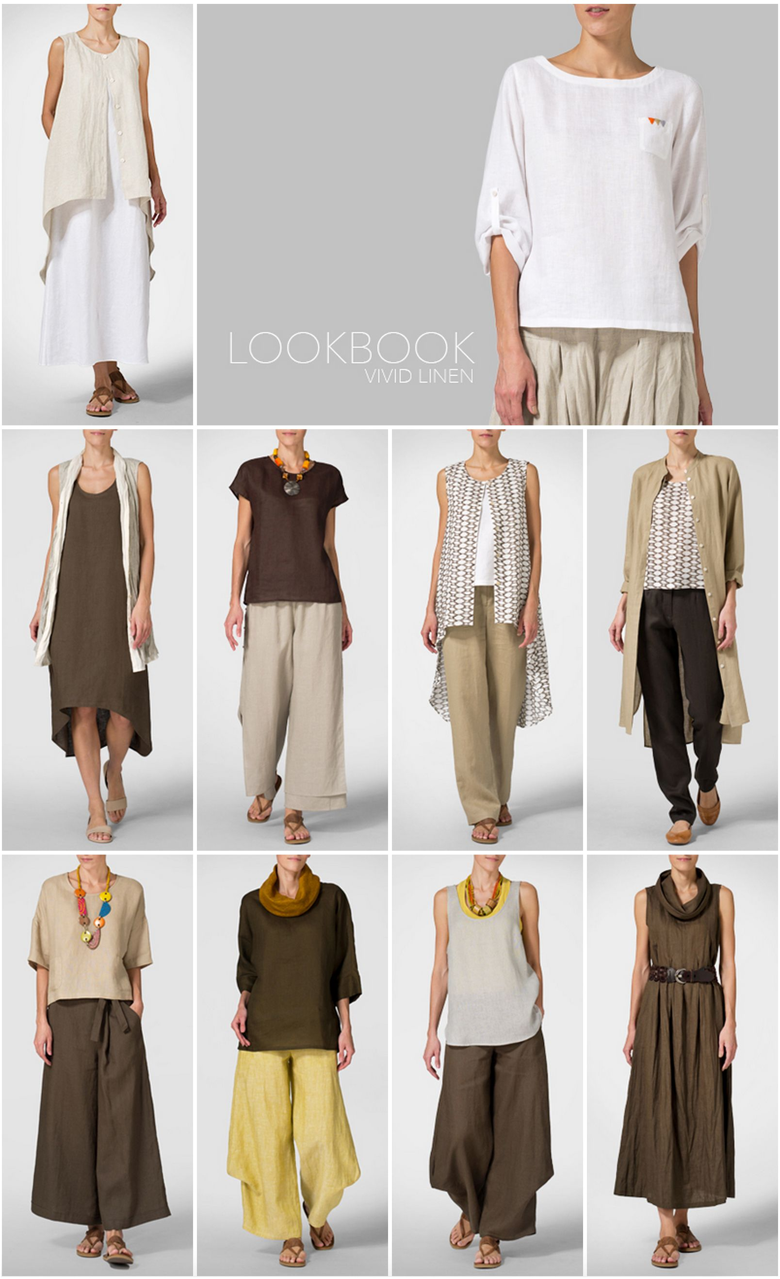 Vivid Linen Clothing Lookbook Clothes Outfit Fashion