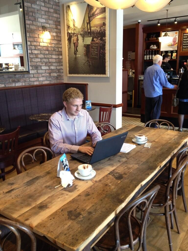 Hot desking at caffe nero cowbridge uprisemarketing