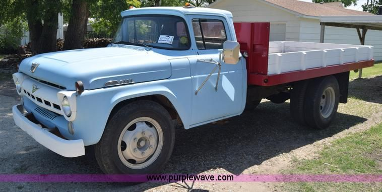 Image For Item K6739 1957 Ford F600 Flatbed Truck Https Www