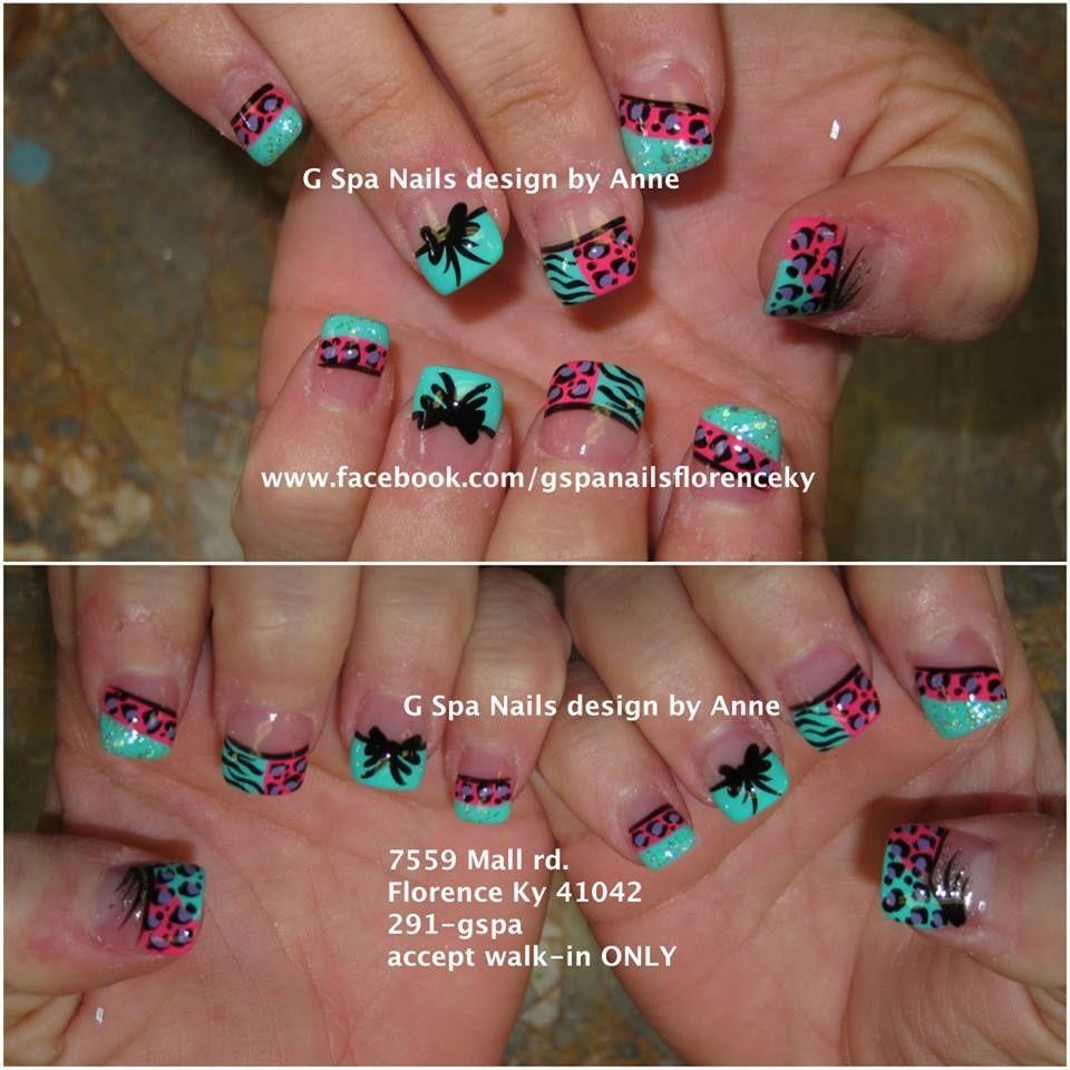 zebra cheetah nail design zerba