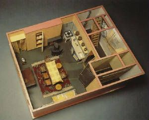 Anne Frank Huis Model Of The Third Floor Of The Annex