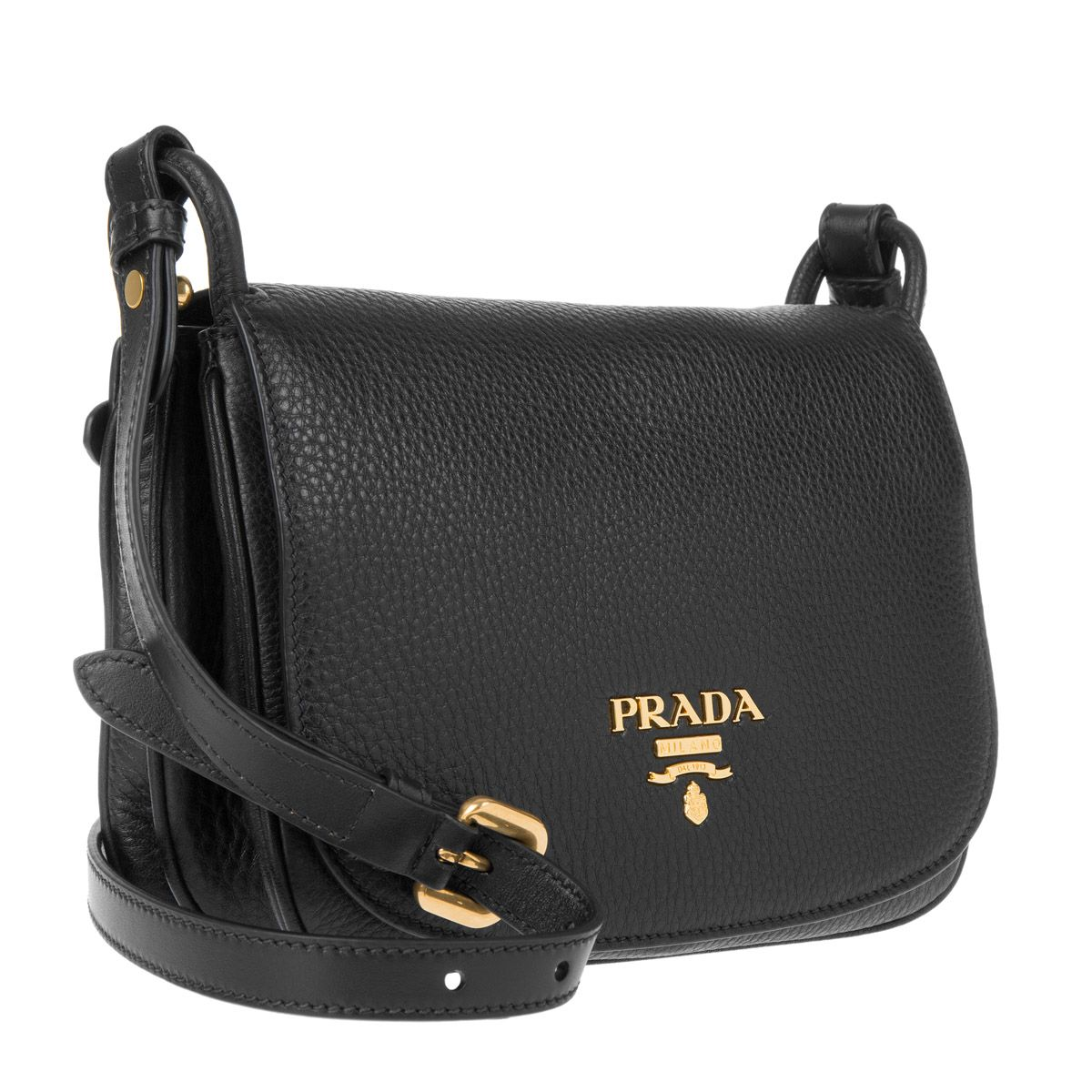 b4383f632cc6 Prada Vitello Daino Pattina Crossbody Bag Nero Elle bei Fashionette ...