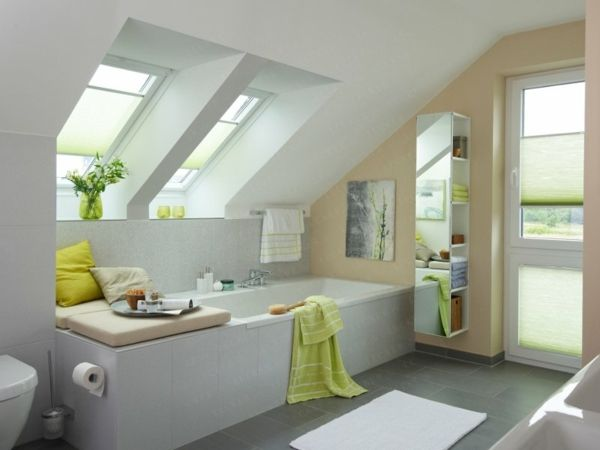 Ideen Badezimmer mit Dachschräge gestalten | Bad | Pinterest ...