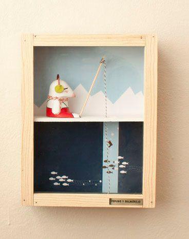 Wall Decor Boxes Art Box Gregorio Original Wall Decorpepinoysalmorejo On Etsy