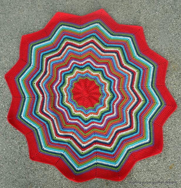 laughingpurple\'s round ripple baby afghan | Mantas de bebes, Manta y ...