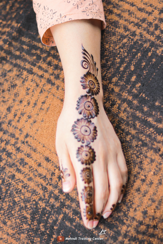 نقش الحناء الجميل البسيط أحدث تصميم نقش الحناء العربي للأيدي الخلفية 2020 Mehndi Designs Henna Designs Henna Hand Tattoo