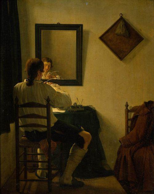 A Writer Trimming His Pen - Jan Ekels 1784