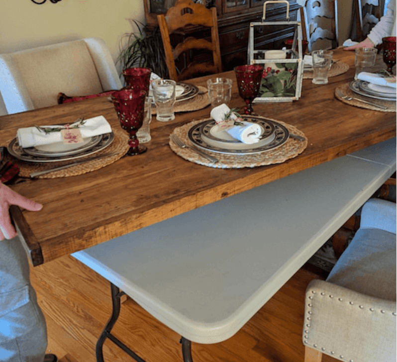 Diy Wood Folding Table Topper From Plastic Folding Table To