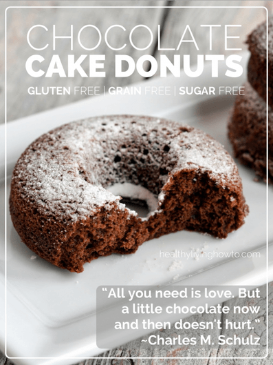 Chocolate Cake Donuts | healthylivinghowto.com