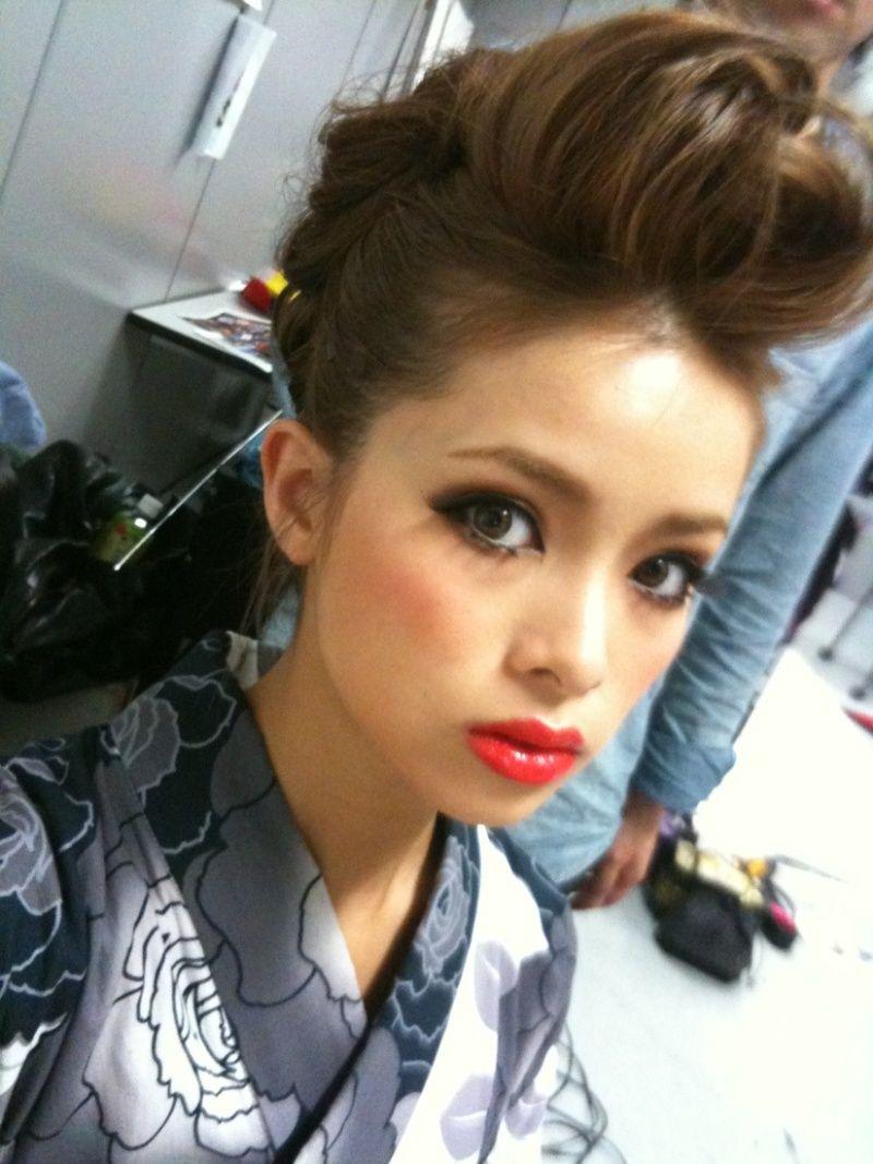 Garu fashion subculture in Japan.   Gyaru is so hyper-feminine.