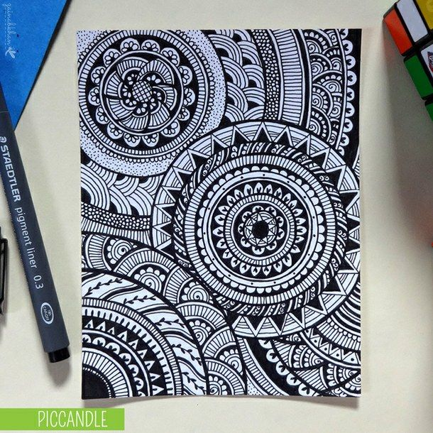 color, colorful, doodle, doodles, draw, drawing | Mandalas ...