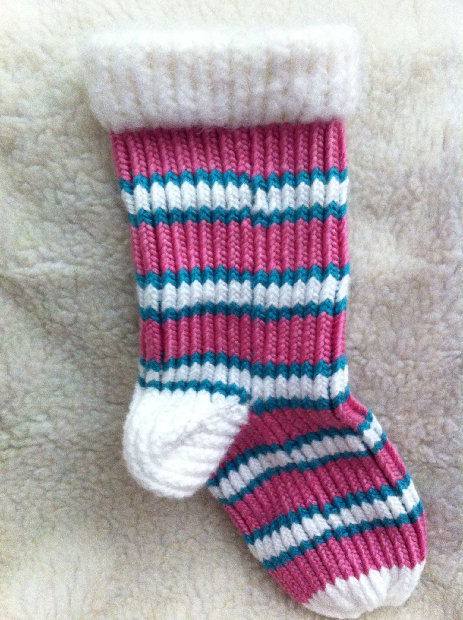 Christmas Stocking Loom Knitting Pattern : Loom knit Christmas stockings custom made Christmas ...