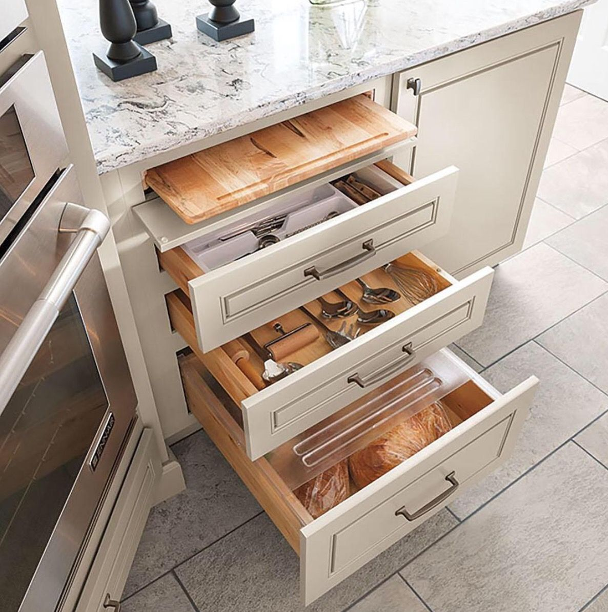 Cabinets with organization solutions like the Scoop Drawer ...