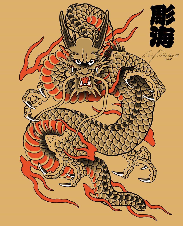 Dragon Tattoo Flash : dragon, tattoo, flash, Sdeckerjohnson, Japanese, Dragon, Tattoos,, Tattoo, Flash,, Traditional, Flash