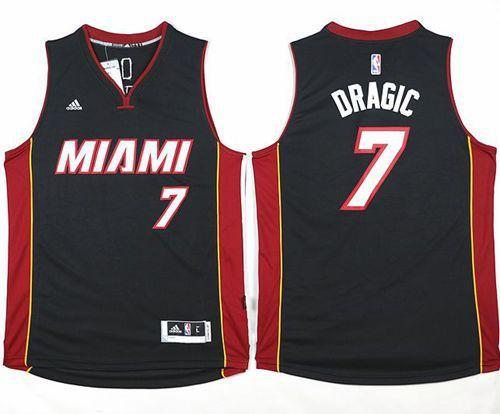 Heat  7 Goran Dragic Black Stitched NBA Jersey  08a343cb6