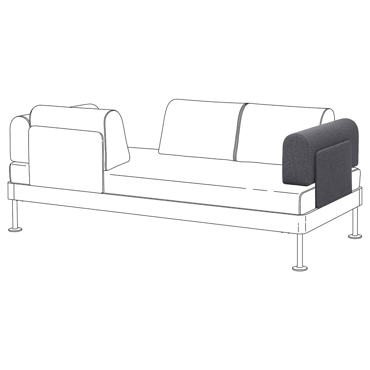 Delaktig Armrest With Cushion Gunnared Medium Gray In 2020 Kissenideen Ikea Und Bettsofa