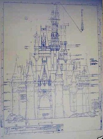 Walt Disney World Castle South Elevation Blueprint Disney World Castle Disney Castle Drawing Disney Imagineering