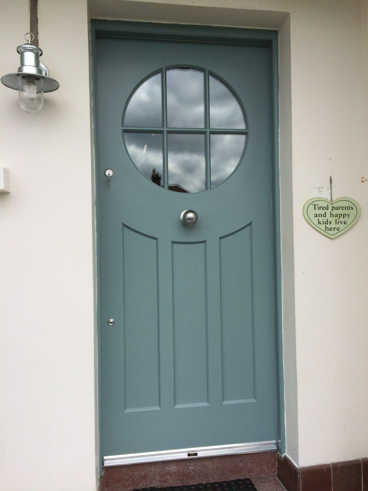 Bespoke painted hardwood Contemporary 1930u0027s style front door and matching frame made to measure by Belfast & Bespoke painted hardwood Contemporary 1930u0027s style front door and ... pezcame.com