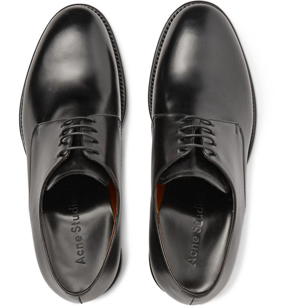 Acne Studios - Brushed Leather Derby Shoes|MR PORTER