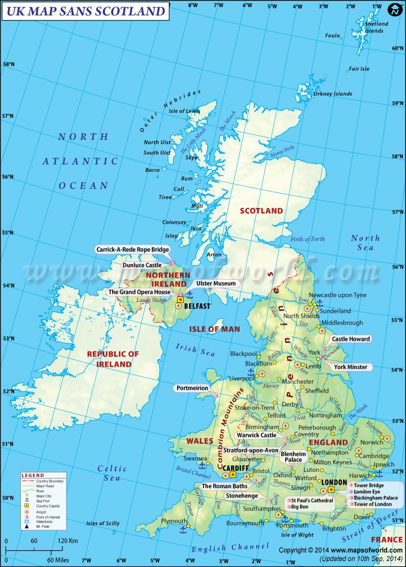 This is how UK Map will look without Scotland Special Interest