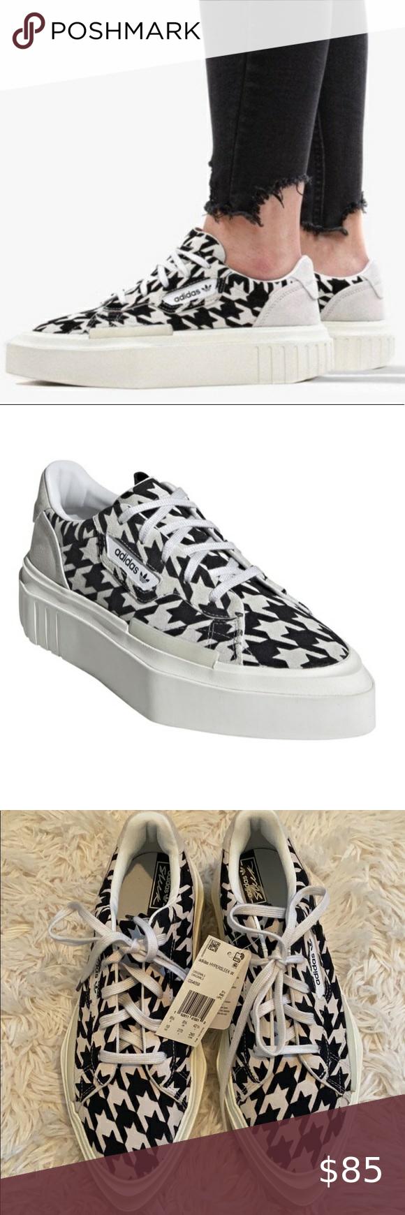NWT Adidas hypersleek houndstooth sneakers Nwt nwob Brand