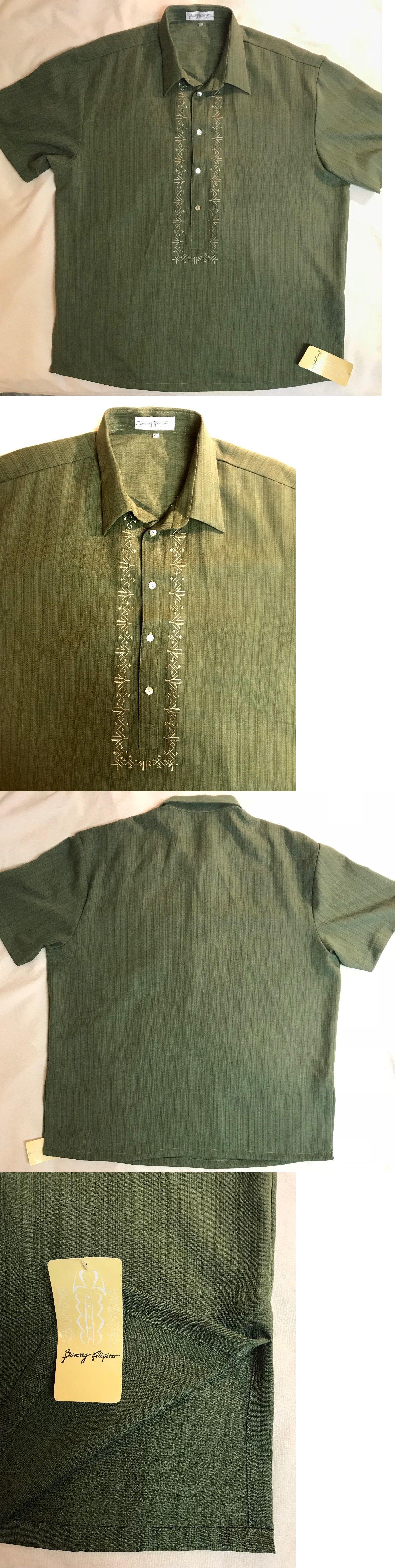 Wedding dress shirts for men  Barong filipino en weddingdress shirt  menus xl  embroidered