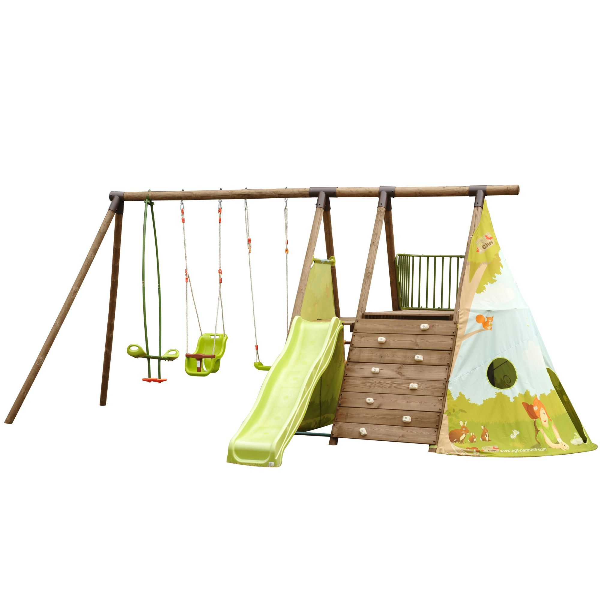 station de jeux en pin pour enfants 5 agr s tipi. Black Bedroom Furniture Sets. Home Design Ideas