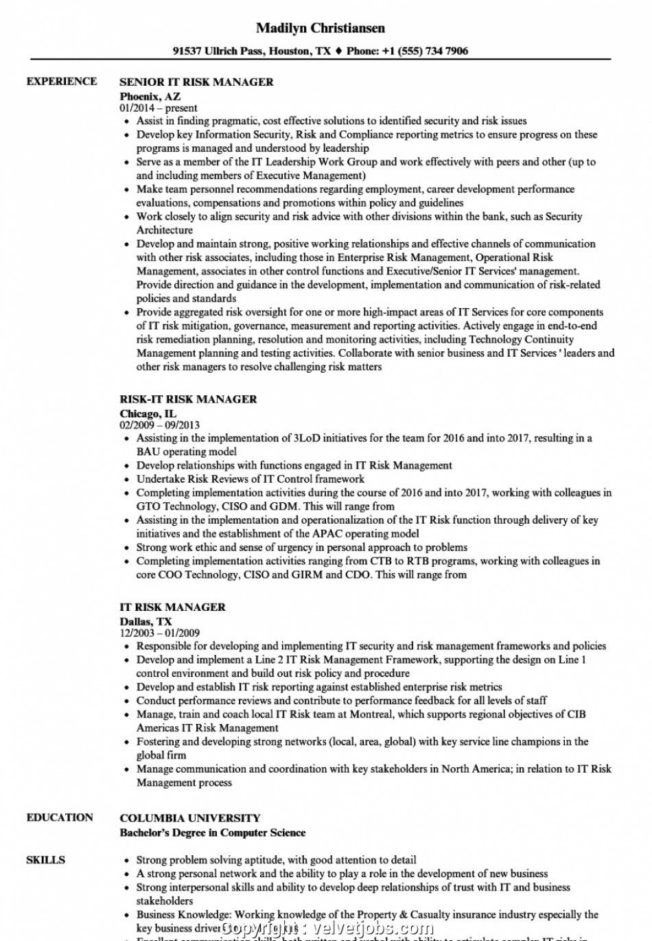 Seven Easy Rules Of Insurance Risk Manager Insurance Risk Manager Manager Resume Resume Examples Good Resume Examples