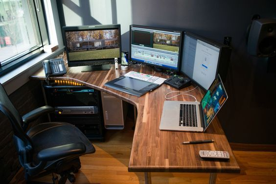 Wonderful Custom Video Editing Desk Build For My First Edit Room So Excited Inside Setup