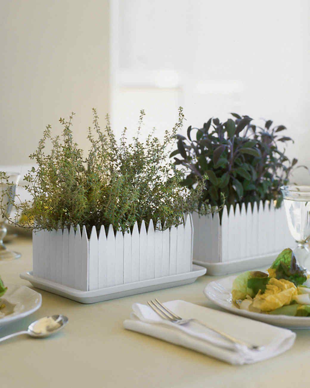 Garden decor for baby shower  HerbGarden Centerpiece  Martha Stewart  DIY Decor  Pinterest