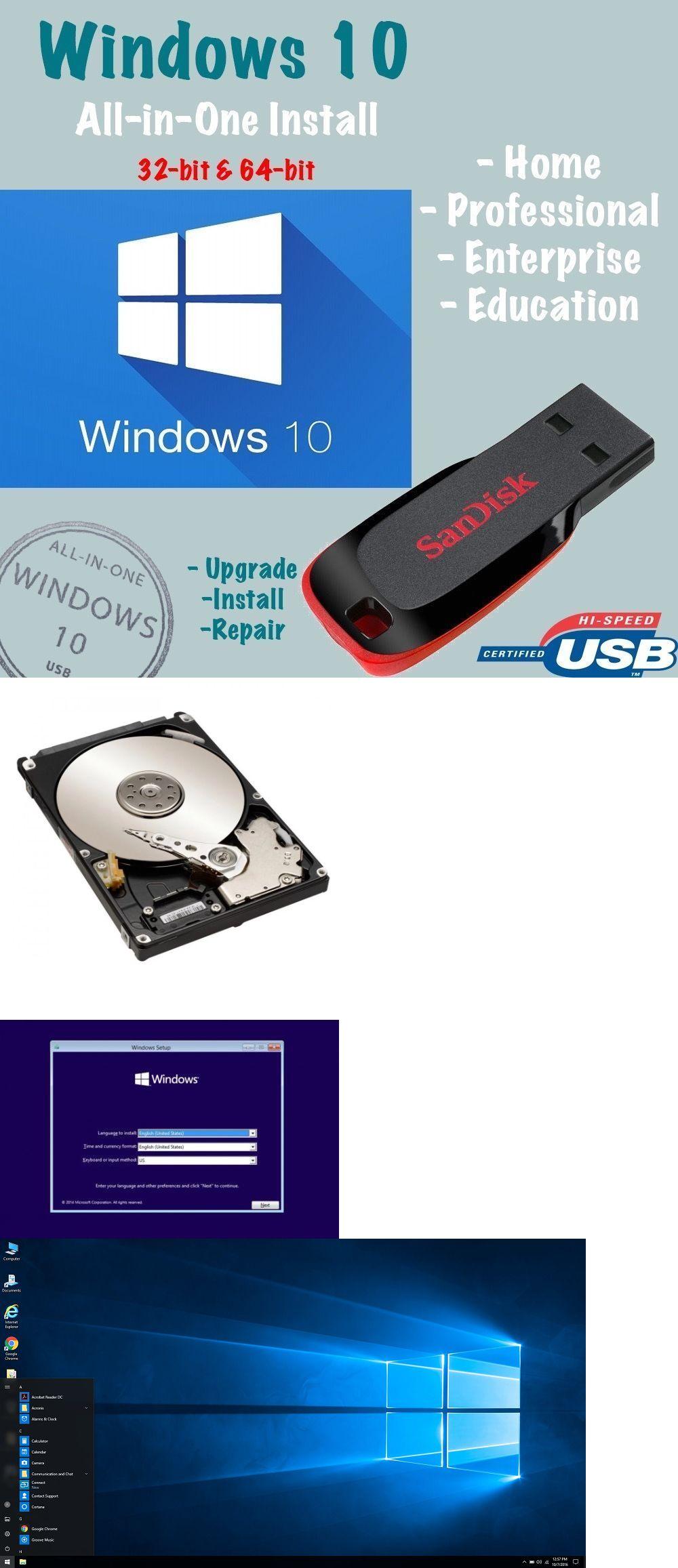 Windows 10 USB All Versions 32//64bit Restore Repair Install Upgrade w//HD