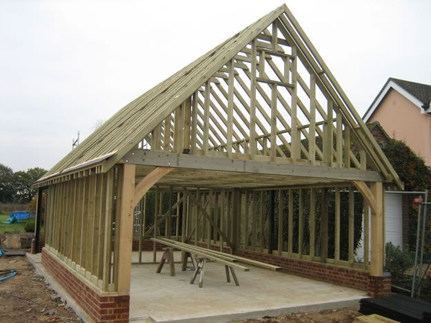 Lovely Timber Garage Construction