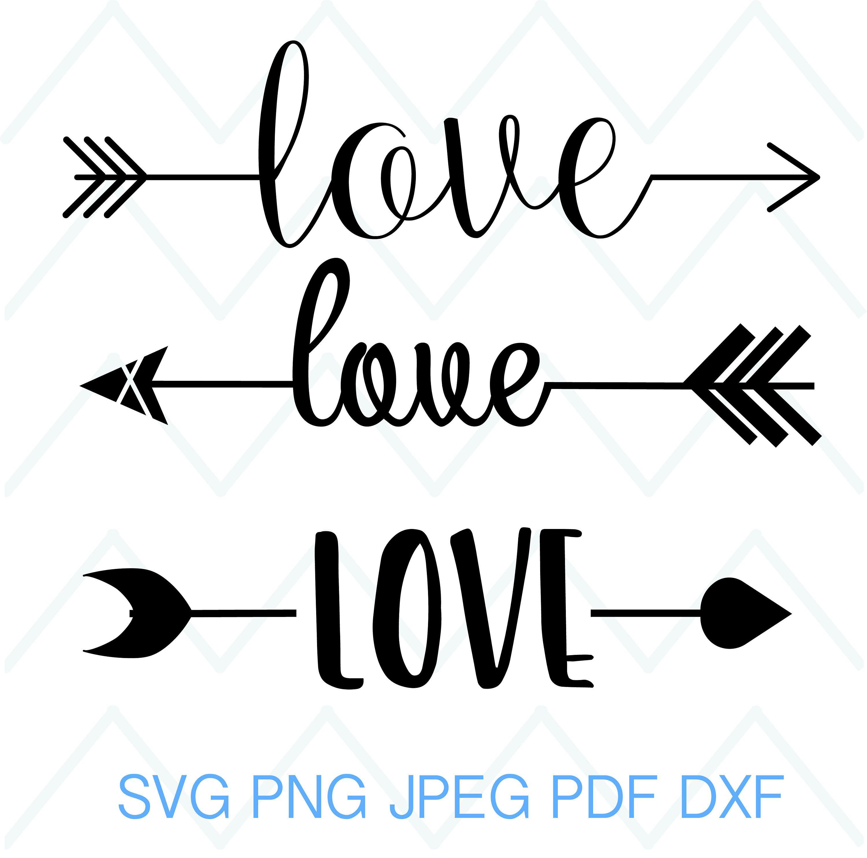Arrow Words Svg Love Words Svg Love Clip Art Valentines