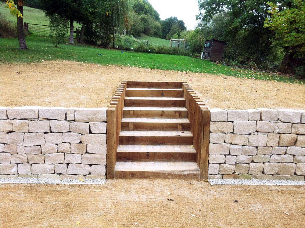 escalier pavé bois - Recherche Google Terrasse Pinterest Gardens - terrasse pave et bois