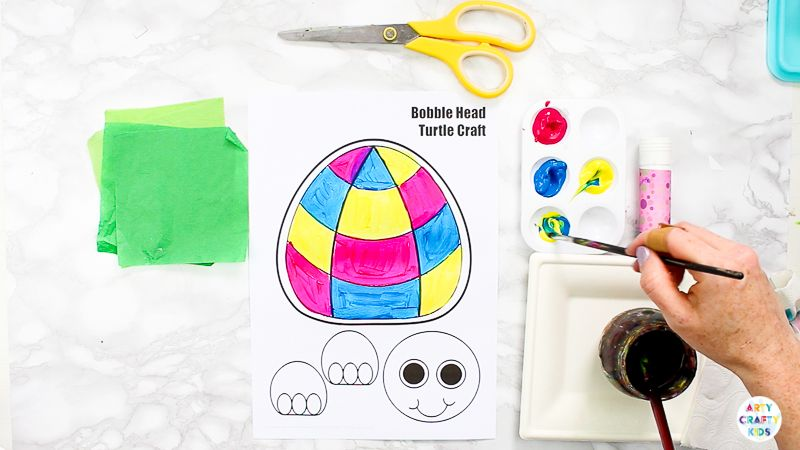 Printable 3d Turtle Paper Craft For Kids Turtle Crafts Paper