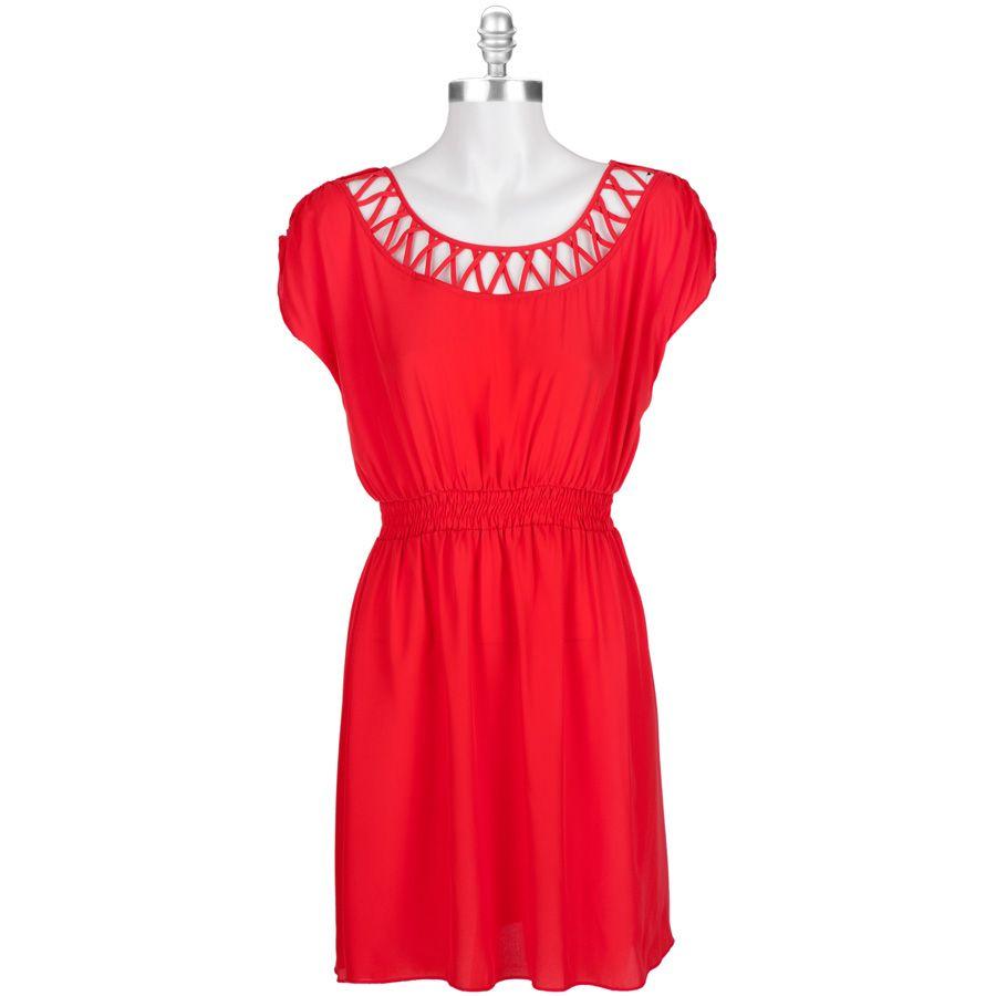 Wedding dresses department stores  Sequin Hearts Juniors Cage Neck Cap Sleeve Dress VonMaur  All