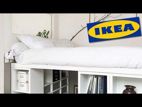 IKEA hack platform bed.💛20 DIY ideas IKEA bed.💙 YouTube
