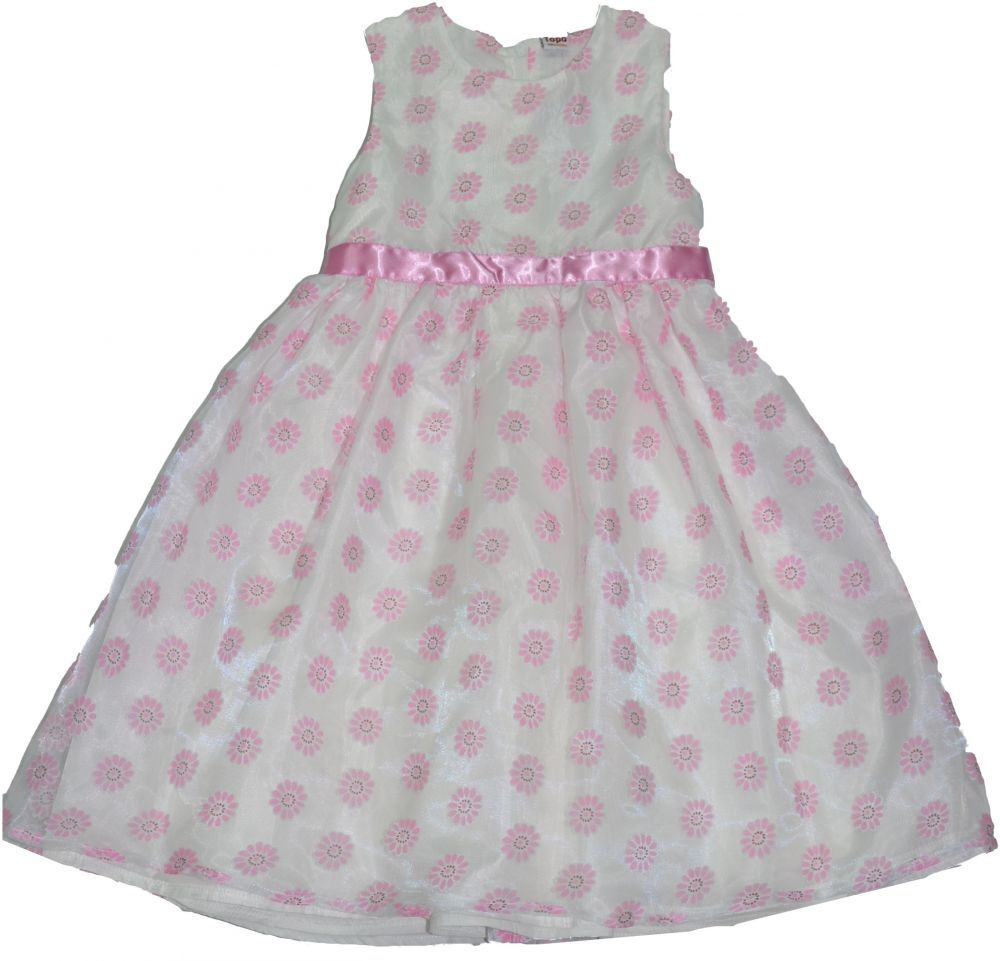 4823e740f Dievčenské oblečenie - Dievčenské šaty a sukne - Biela - Topo Dievčenské  spoločenské šaty s kvietkami