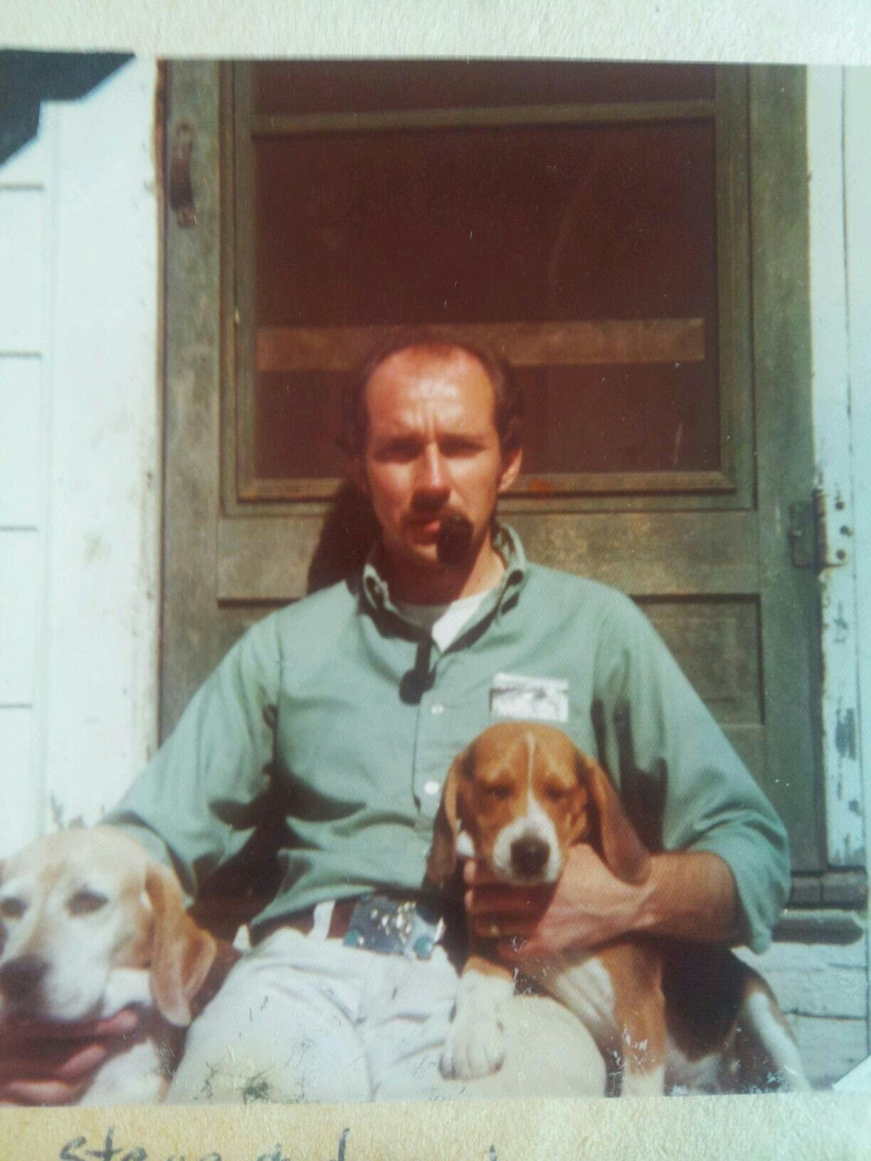 Dad and dogs 1971.  Moonshot and Apollo.  My parents first kids.