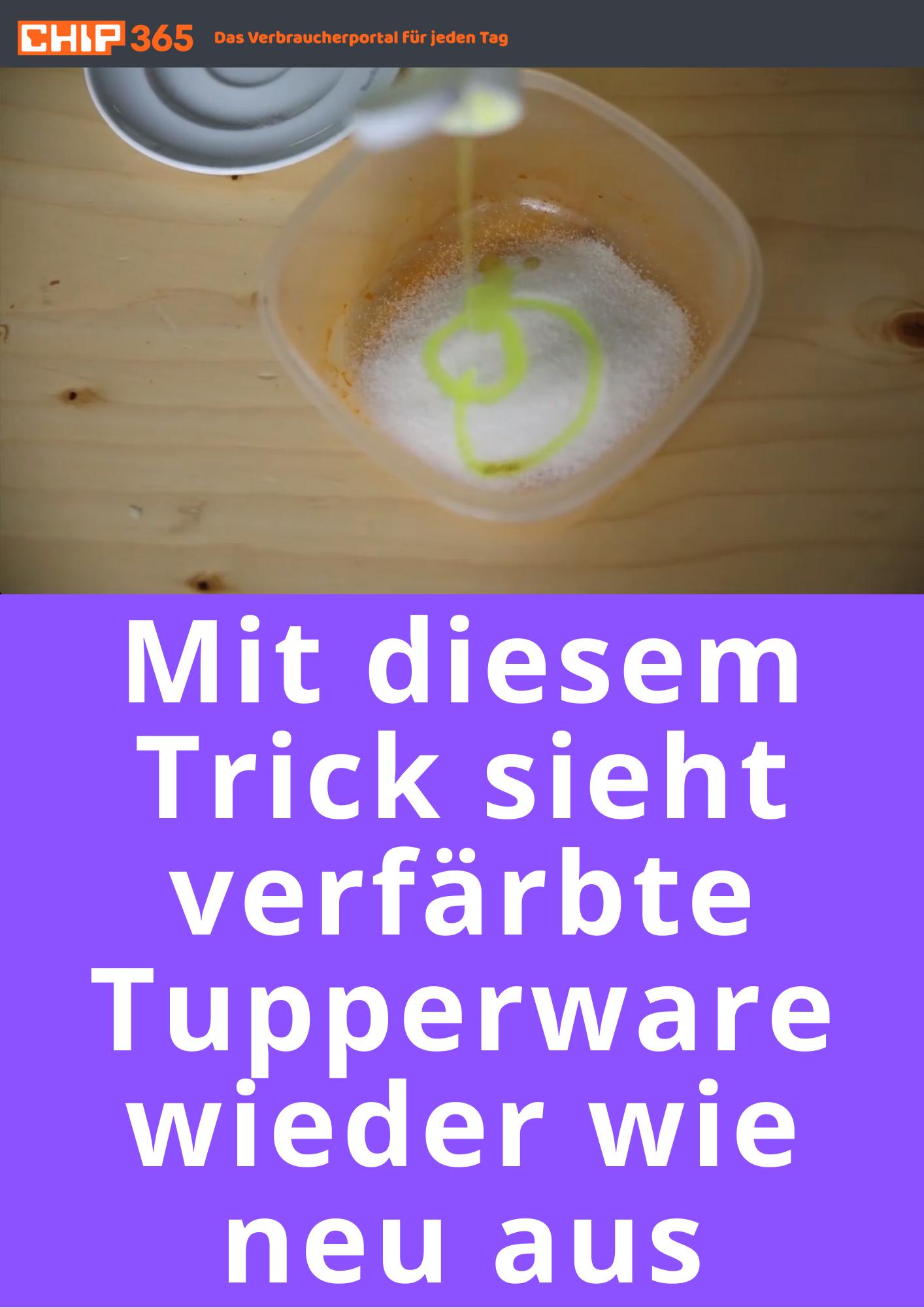 Mit diesem Trick sieht verfärbte Tupperware wieder wie neu aus