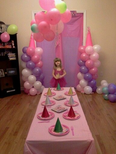 Diy princess birthday party Pinned for I love the balloon