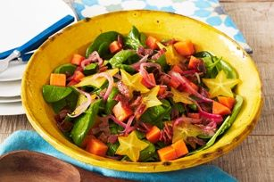 Tropical Wilted Spinach Salad recipe -- Looks yummy!!! (kraft recipes)