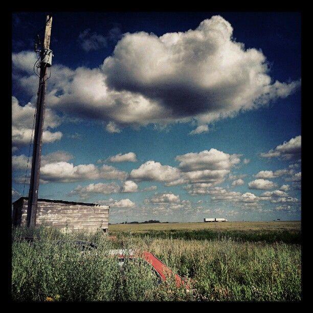 """@lesklassen's photo: """"#saskatchewan #clouds #prairies #summer #craik"""""""
