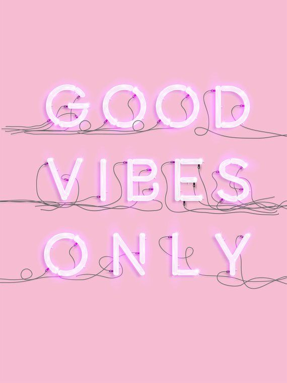Neon good vibes - PRINTABLE Poster Typography Print, Home ...