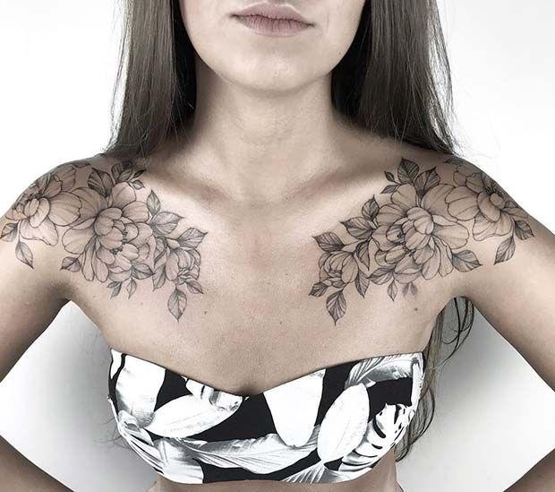 43 hermosos tatuajes de flores para mujeres – tatuajes