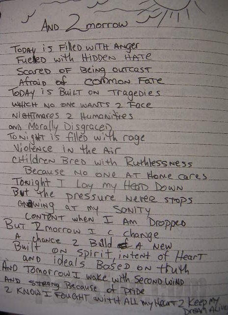 2Pac – And 2morrow (Poem)