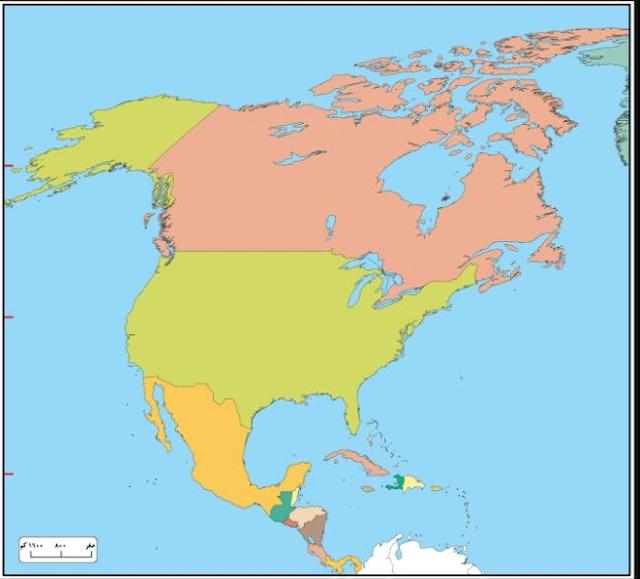 الأطلس المدرسي Pdf كامل لقارة أمريكا الشمالية من موقع وزارة التربية والتعليم North America Map Atlas Map North America
