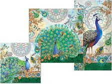 punch studio dining party decorative paper napkins royal peacock - Decorative Paper Napkins