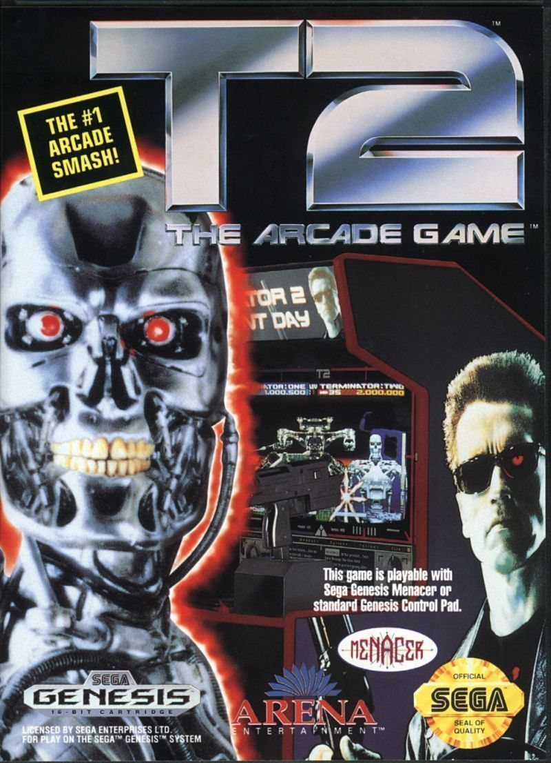 t2 terminator 2: the arcade game - sega genesis | products